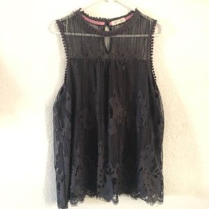 Dark Gray Lace Top with Lining